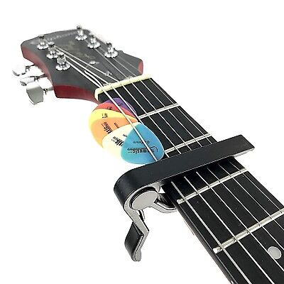 Black Groove CP01 Guitar Capo For Electric & Acoustic Guitars + 6 FREE Plectrums