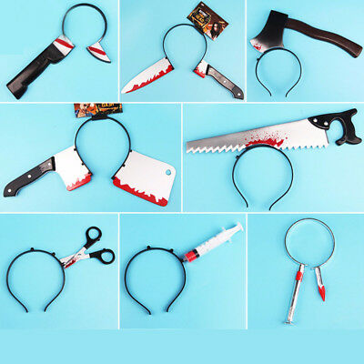 Party Decoration Axe Knife Scary Toys Halloween Costume Horror Props  Headwear