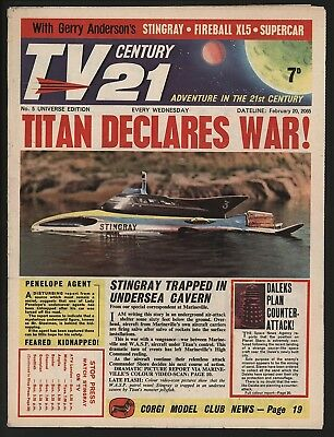 TV CENTURY 21 #5 FEB 20th 1965 NICE 'ORIGINAL OWNER' COPY FIREBALL XL5/DALEKS
