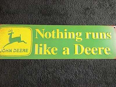 "John Deere TIN SIGN Retro"" Metal Home Decor  Store Shop Market Farm Tractor SALE"
