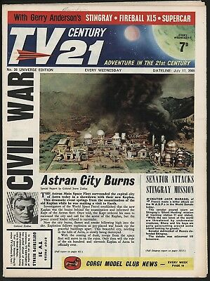 TV CENTURY 21 #26 JUL 17th 1965 NICE 'ORIGINAL OWNER' COPY FIREBALL XL5/DALEKS