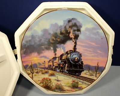 """Hamilton Collection Romance of The Rails Train Plate """"Sunset Limited"""" - Signed"""