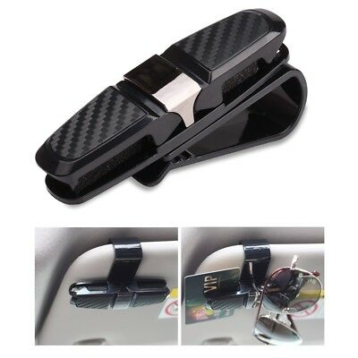 Car Sunglasses Holder Mount with Ticket Card Clip for Interior Auto Sun Visor