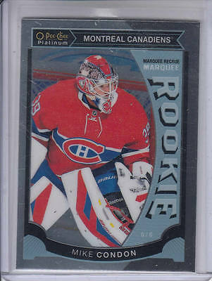 15/16 OPC Platinum Montreal Canadiens Mike Condon Rookie RC card #M32