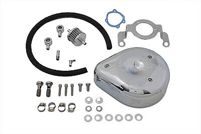 Tear Drop Air Cleaner Kit Smooth Chrome,for Harley Davidson,by V-Twin