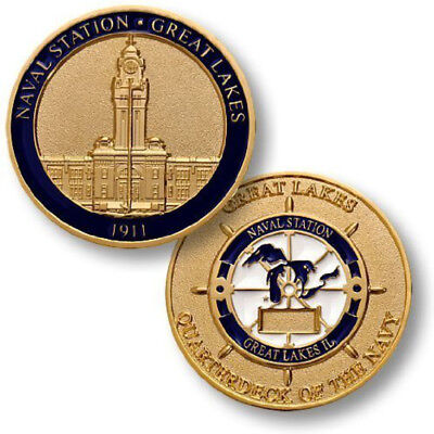 NEW U.S. Navy Naval Station Great Lakes Challenge Coin