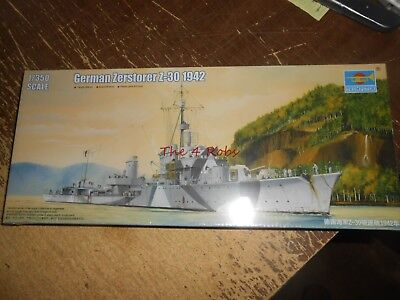 Trumpeteer German Zerstorer Z-30 1942 Ship Model in Sealed Box 1/350