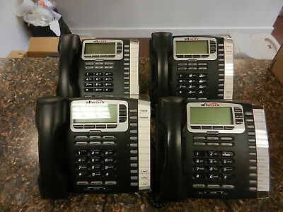Lot of (4) Allworx 9212 VOIP Phones With Handsets and Stands