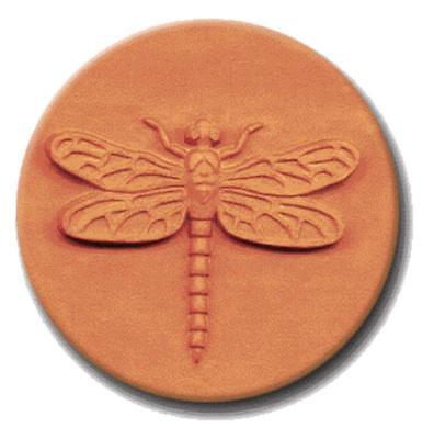 """RYCRAFT 2"""" Round Cookie Stamp with Handle & Recipe Booklet-DRAGONFLY"""