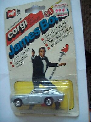 Vintage Corgi Junior James Bond 007 Aston Martin Db5 Moc