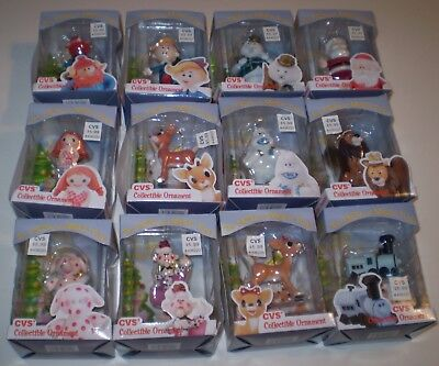 NEW CVS 1999 Rudolph & Misfit Toys Ornaments Complete Ornament Set of 12 NIB