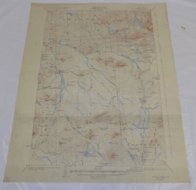 1923 Topographic Map of SANTA CLARA QUADRANGLE, NY, FRANKLIN COUNTY