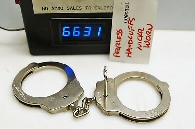 #6631 Set of Peerless nickel plated handcuffs