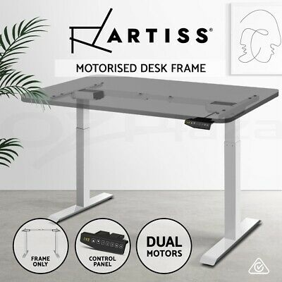 Artiss Height Adjustable Electric Motorised Standing Desk Office Sit Stand Table