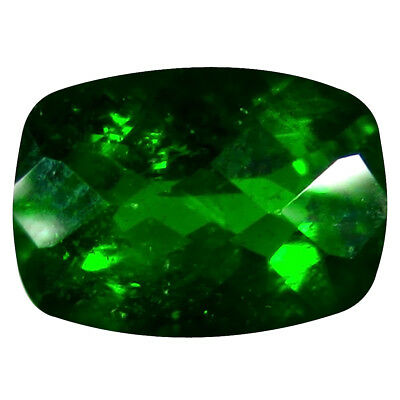 1.43 ct AAA+ Unbelievable Cushion Shape (8 x 6 mm) Green Chrome Diopside