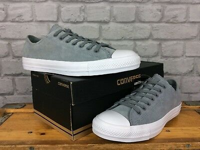 Converse Uk 9 Eu 42.5 Grey All Star Lo Suede Trainers Chuck Taylor 7abb1fc54