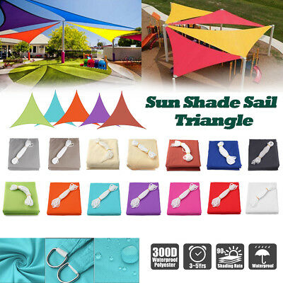 Sun Shade Sail Patio Outdoor Top Canopy UV Block Cover Waterproof Triangle