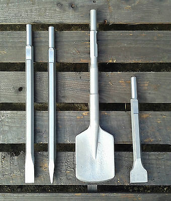 Point, Chisel, 50mm Bolster & Clay Spade To fit Milwaukee 900K & 950K