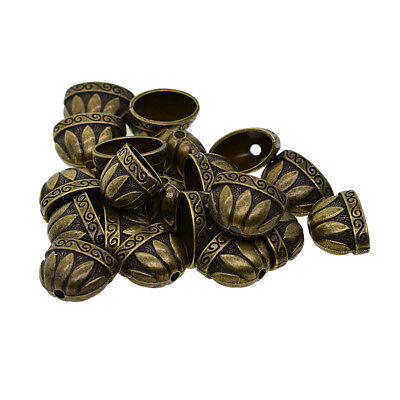 20x Large Size Antique Bronze Bead Caps Tassels Caps Charms Jewelry Findings