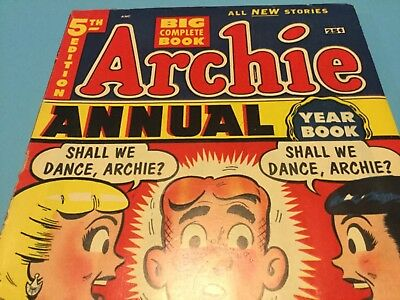 Archie Comics 1953 1954 Archie Annual Yearbook 5th Edition Betty Veronica