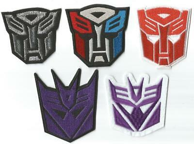 Transformers Autobot & Decepticon Character Novelty Patch - Iron-on / Sew-on