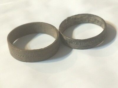 A51 Ancient Artifact Lot of Roman Viking Bronze Finger Rings 9th-19th century