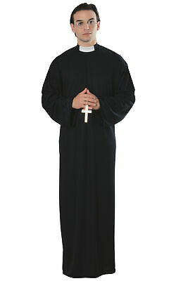 Priest Robe Father Preacher Religious Church Vicar Men Costume STD