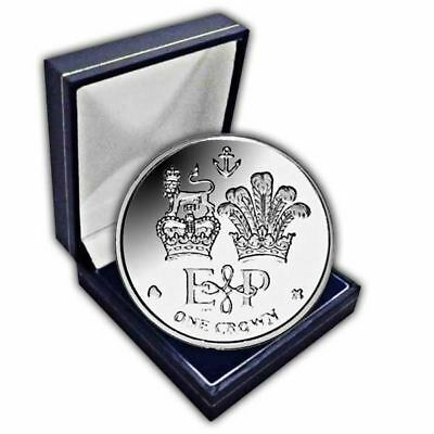 Falkland Islands 2011 Lifetime of Service  Cupro-nickel Unc. CuNi Coin in a box