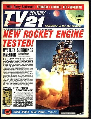 Tv Century 21 #12 Fireball Xl5 Sting Ray The Dalek Great Fine Flat White Pages