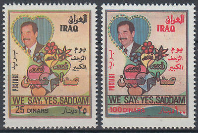 Irak Iraq 1997 ** Mi.1576/77 Referendum