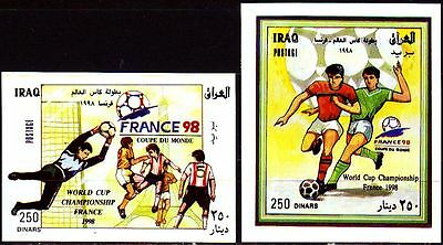 Irak Iraq 1998 ** Bl.80/81 Fußball Football