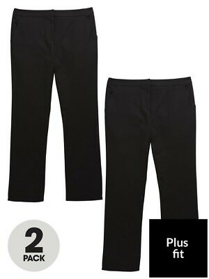 v by very Girls Age 4 (Plus Fit) Black School Trousers BNWT RRP £20