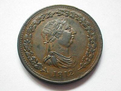 Canada 1812 One Penny Token (gVF) Thomas Halliday. Date to Obverse
