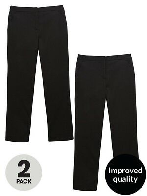 v by very Girls Age 10 long leg Black School Trousers BNWT RRP £22