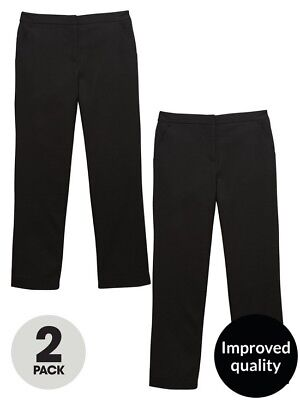 v by very Girls Age 10  Black School Trousers BNWT RRP £22