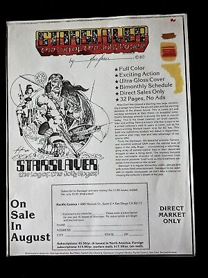 Starslayer MIKE GRELL Hand Colored Publisher Series Subscription Ad Layout 1980