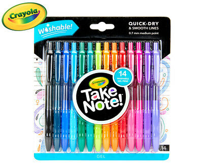 Crayola Take Note! Washable Gel Pens 14-Pack