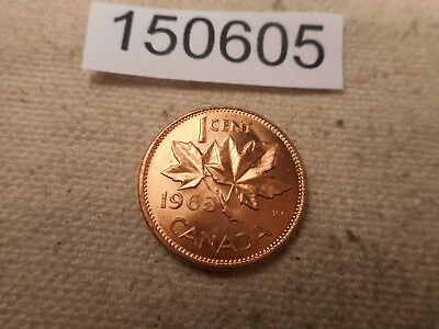 1965 Canada One Cent - Very Nice - Red - Higher Grade Album Coin - # 150605
