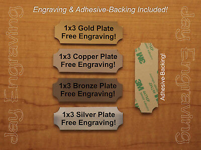 Custom Engraved 1x3 Brushed Metal Tag Sign Plate | Personalized Trophy Plaque