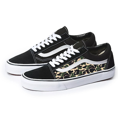 b7a4fcad624 Vans Black Old Skool x Bape Camo Custom Handmade Shoes By Patch Collection