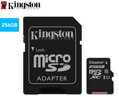 Kingston 256GB Class 10 Canvas Select Micro SD Card w/ Adapter