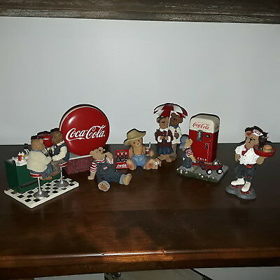 LOT of Boyds Bear Coca Cola Figurines - Nice !!!