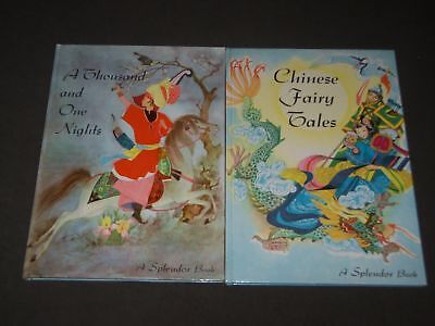 1958 A Splendor Book Lot Of 2 -Chinese Fairy Tales -Thousand One Nights- Kd 4767