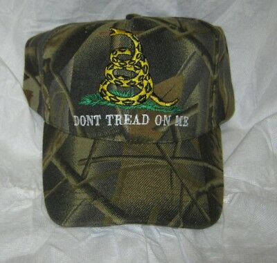 NEW - CAMO embroidered DONT TREAD ON ME Gadsden Flag Cap / Hat