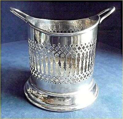 SUPERB Large ~ SILVER Plated ~ Pierced BOTTLE  COASTER ~ c1920 by St.Anouau