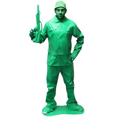 Saving Private Morph Green Soldier Fancy Dress Costume - large. Brand New