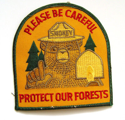Mint Vintage Original Smokey Bear Forest Fire Prevention Patch To Display/wear