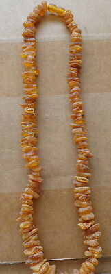 Antique Natural butterscotch Baltic Amber Beads Necklace #20s