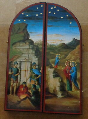 Russian Triptych Icon Pascha- Resurrection of Christ large #11 sasa