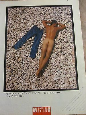 Mustang Jeans, Full Page Vintage Ad, German Magazine